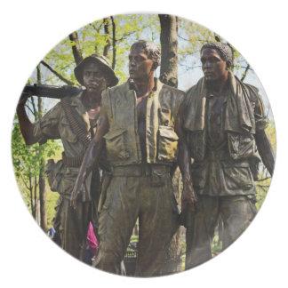 Plat de mémorial de guerre de Vietnam Assiettes Pour Soirée
