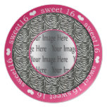 plat de photo de cadeau du bonbon 16 à roses indie assiettes