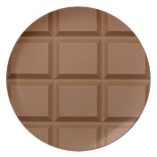 """Plat fait sur commande """"de barre de chocolat"""" assiettes pour soirée"""