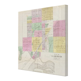 Plat of Larned, Pawnee County, Kansas Gallery Wrapped Canvas