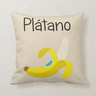 Platano (Banana) Throw Pillow