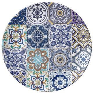 Plate Azulejos porcelain