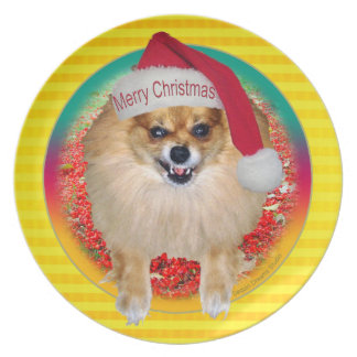 Plate | Bad Santa Pomeranian Yellow