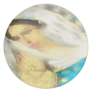 Plate: Blessed Mother Design ©2016CAT Dinner Plate