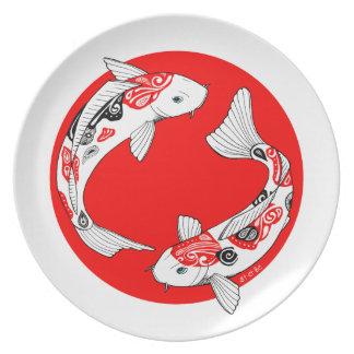 Plate carp koi Japanese Punt Japan koi