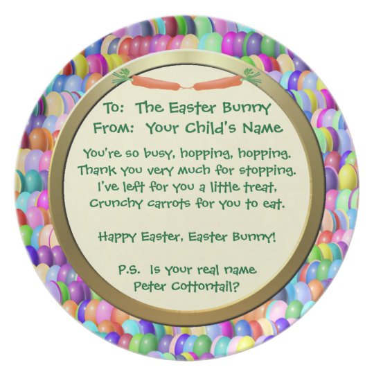 Plate - Carrots For The Easter Bunny