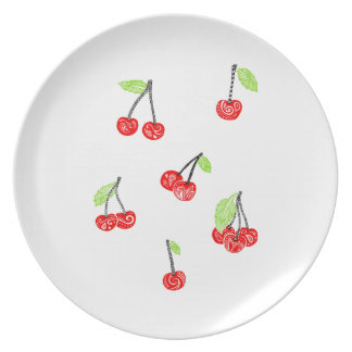 Plate cherries Punt cherries