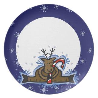Plate - Christmas Reindeer