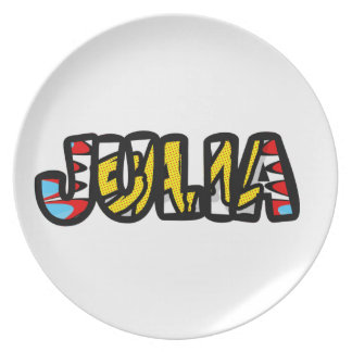 Plate customized melanin Julia