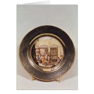 Plate depicting the Sevres workshop Card