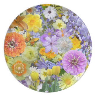 Plate - Flowers and Butterflies