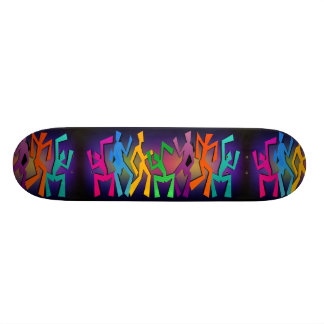 Plate-forme colorée de planche à roulettes de mini skateboard 18,4 cm