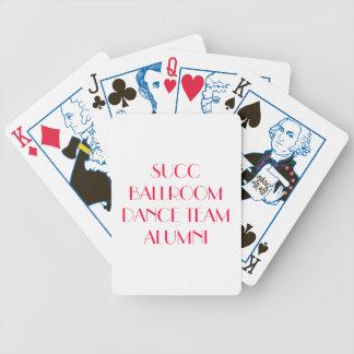 plate-forme d'anciennes élèves d'équipe de danse d jeu de 52 cartes