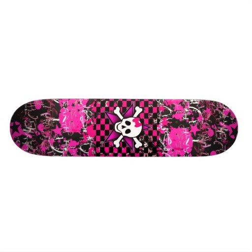 Plate-forme de planche à roulettes de fille de scè plateau de planche à roulettes