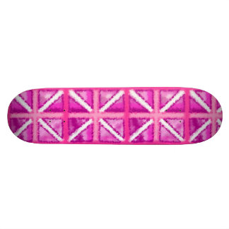 Plate-forme Girly de patin de drapeau rose Skateboard Old School 21,6 Cm