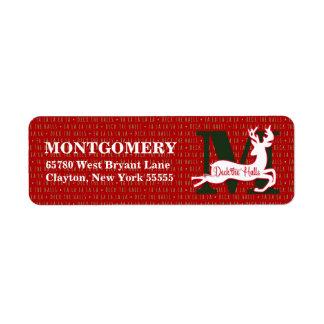 Plate-forme les étiquettes de adresse décorés d'un étiquette d'adresse retour