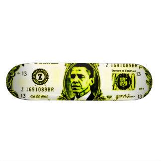 Plate-forme luisante d'argent d'Obama Plateaux De Planche À Roulettes
