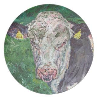 Plate - Friesian Bull