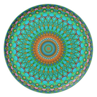 Plate Geometric Mandala G388