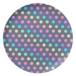 Plate Hot Polka Dots
