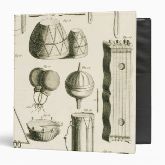 Plate II: Ancient and modern percussion instrument Vinyl Binder