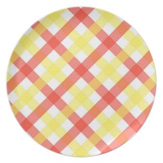 Plate - Lattice for Candy Stripe Zinnia