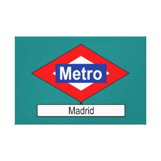 Plate Madrid Meter Canvas Print