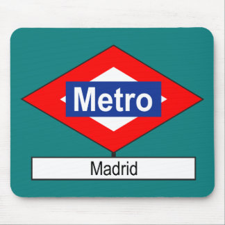Plate Madrid Meter Mouse Pad