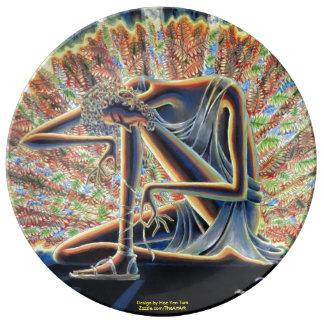 Plate - Moses & Burning Bush Porcelain Plate