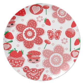 Plate,Mug,strawberries Dinner Plate
