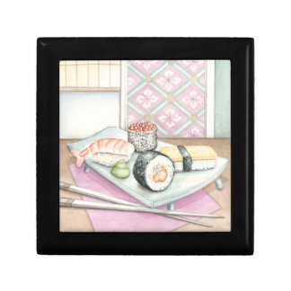 Plate of Assorted Sushi with Chopsticks Gift Box