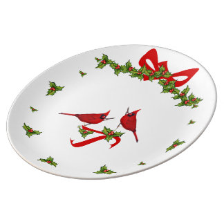 Plate of Christmas to the cardinals Porcelain Plate
