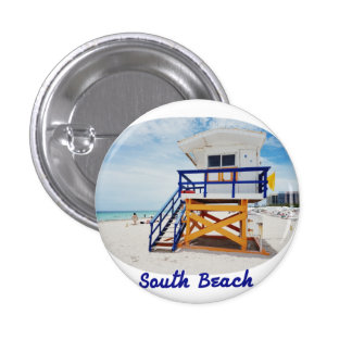 Plate of Miami South Beach Patrol 1 Inch Round Button