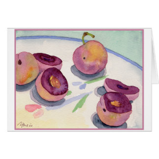 Plate of Plums Card