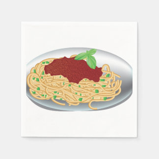 Plate Of Spaghetti Paper Napkins