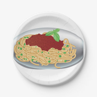 Plate Of Spaghetti Paper Plates