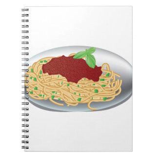 Plate Of Spaghetti Spiral Notebook