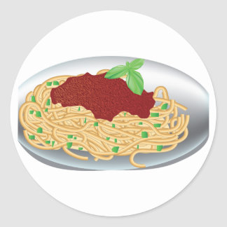 Plate Of Spaghetti Stickers