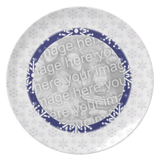 Plate Photo Template - Snowflakes