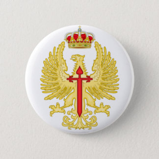 Plate pin. Emblem Spanish Ground forces 2 Inch Round Button