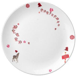 Plate porcelain Sweet Christmas