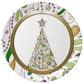 Plate - Porcelain - Tuscany Tree Two