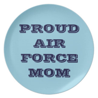 Plate Proud Air Force Mom