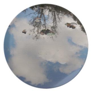 "Plate ""sky in water """