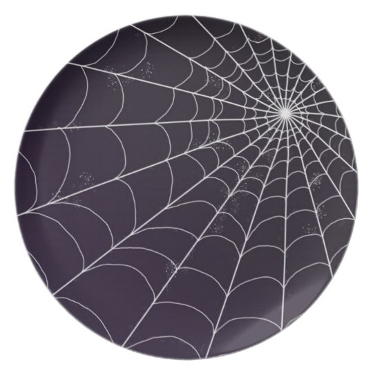 Plate - Spiderweb on Violet
