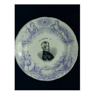 Plate with a portrait of Alexandre Brongniart Postcard