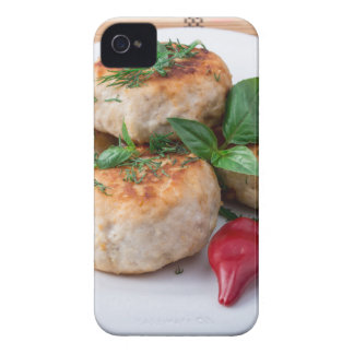 Plate with fried meatballs minced chicken Case-Mate iPhone 4 cases