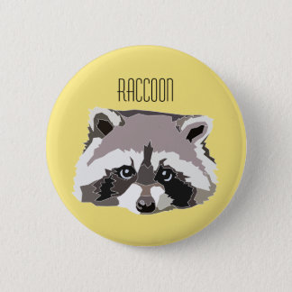 Plate with illustration Raccoon 2 Inch Round Button