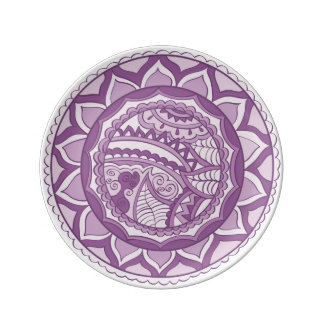 Plate with indian pattern