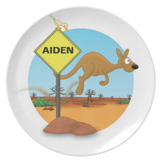 "plate with name for kids ""KANGAROO """